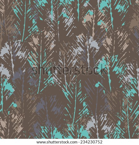 Hand stamped textured abstract seamless pattern . All objects are conveniently grouped  and are easily editable. - stock vector