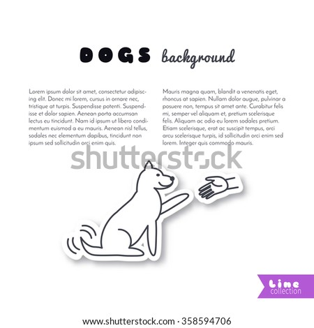 Wag your tail stock photos royalty free images vectors shutterstock - Dogs for small spaces concept ...