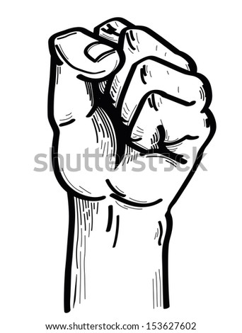 hand strong - stock vector