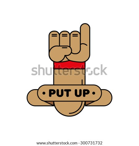 hand symbol gesture communication pinky