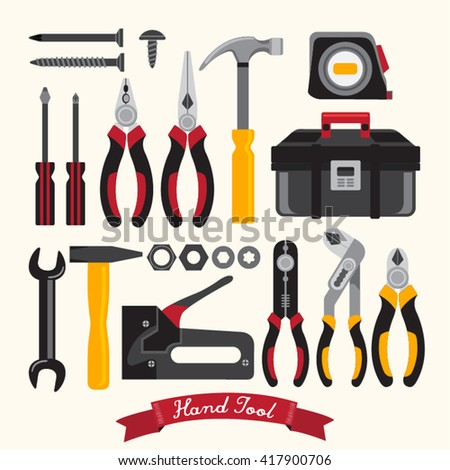 Hand Tool Set Vector Design
