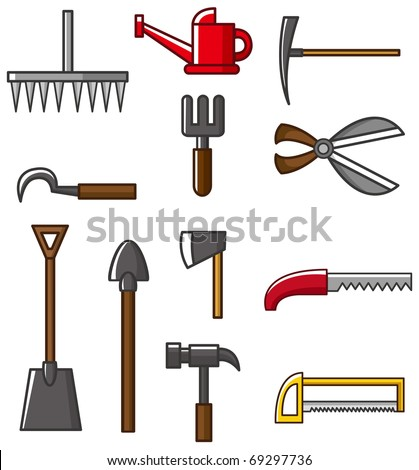Hand tool silhouette collection vectors - stock vector