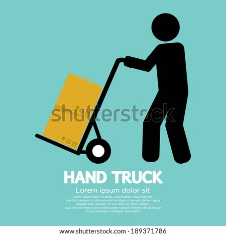 Hand Truck Vector Illustration - stock vector