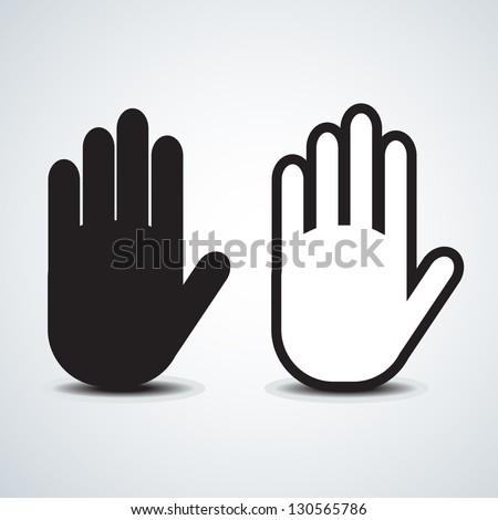 Hand vector - stock vector