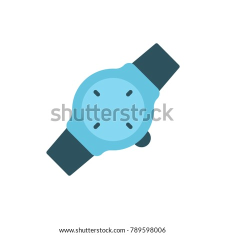 hand watch icon flat