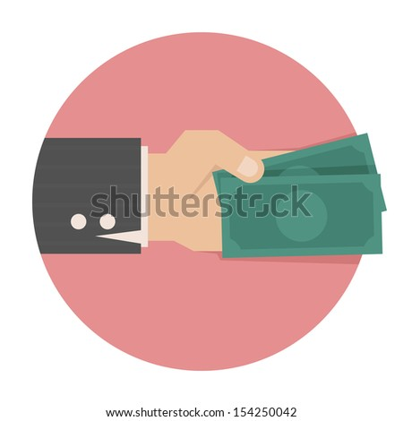 Hand with money , eps10 vector format - stock vector