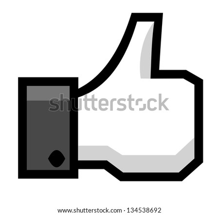 Hand with thumb up - stock vector