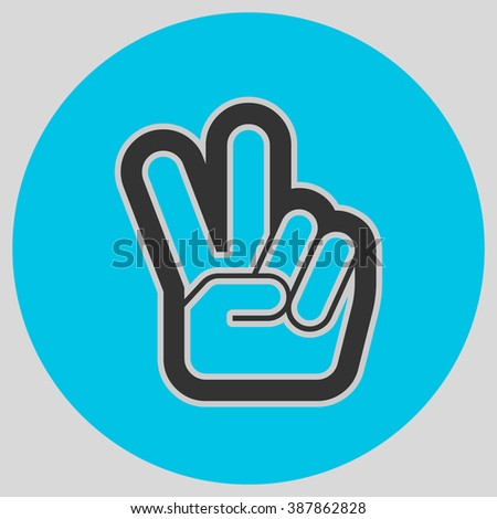 Hand Two Fingers Peace Victory Symbol Stock Vector Hd Royalty Free