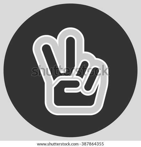 Hand Two Fingers Peace Victory Symbol Stock Vector 387864355