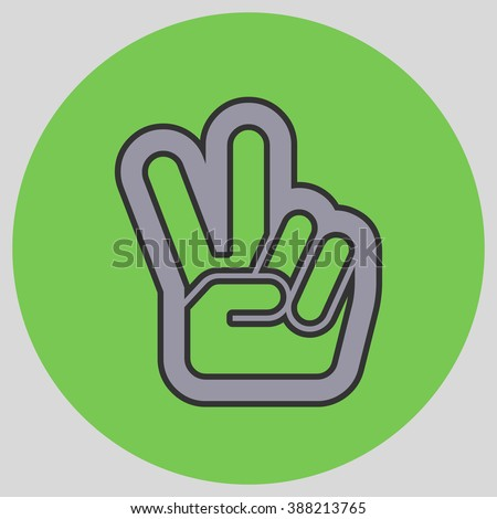 Hand Two Fingers Peace Victory Symbol Stock Vector 388213765