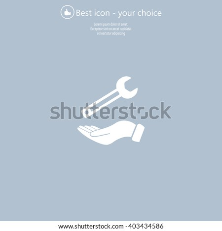 hand wrench icon - stock vector