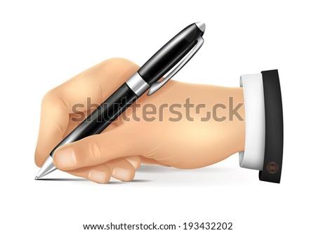 Hand Writes - stock vector