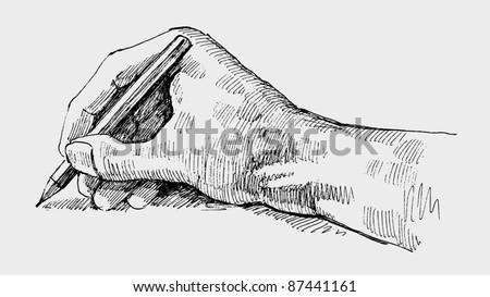 Hand writing - stock vector