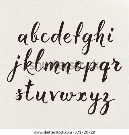 Hand Written Calligraphic Alphabet Cool Poster The With Calligraphy Pen