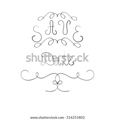 Hand written  phrase save date - stock vector