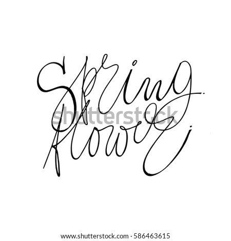 Hand written spring flower phrases greeting stock vector 586463615 hand written spring flower phrases eeting card text templates isolated on white background mightylinksfo