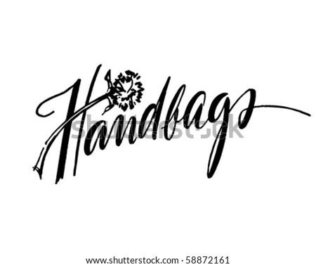 Handbags - Retro Clip Art - stock vector