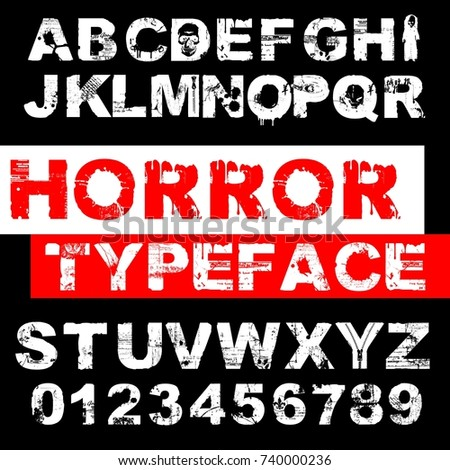 Horror Alphabet Stock Images Royalty Free Images