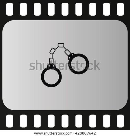 Handcuffs icon. - stock vector