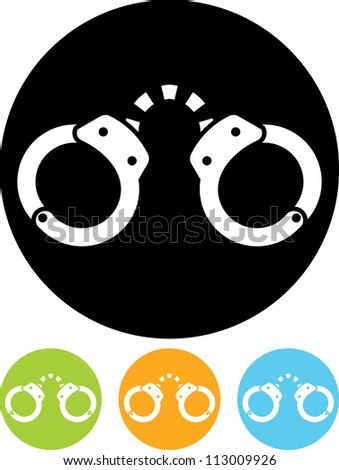 Handcuffs - Vector icon isolated - stock vector