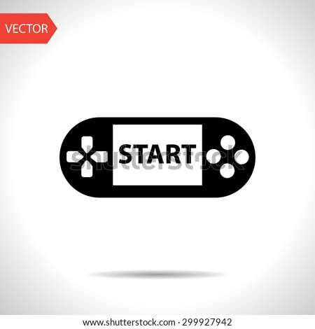 Handheld game console icon - stock vector