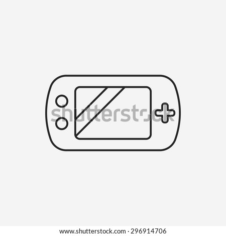 Handheld game consoles line icon - stock vector