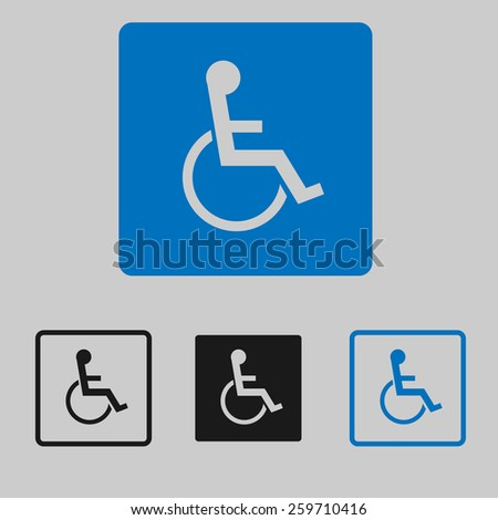 Handicap Icons - stock vector