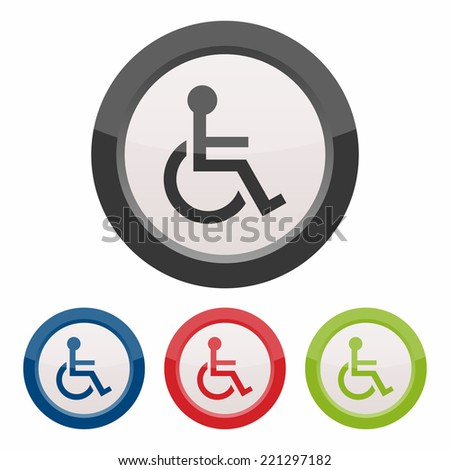 Handicap or wheelchair person icon - stock vector