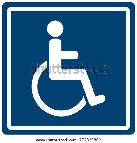 Man Women Handicap Toilet Sign Stock Vector 214806445