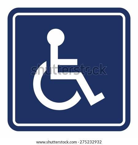 Handicap, wheelchair person sign - stock vector