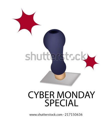 "Handle Stamper Ready to Stamping ""Black Friday Special"" for Cyber Monday Shopping Season and Biggest Discount Promotion in A Year.  - stock vector"