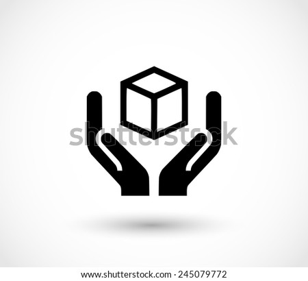 Handle with care icon vector - stock vector