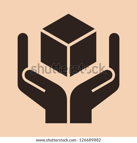 Handle with care sign - packing symbol - stock vector
