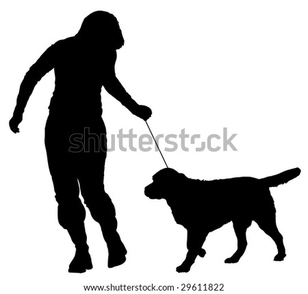 handler and a dog