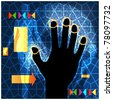Handprint access networking technology esp10 - stock photo