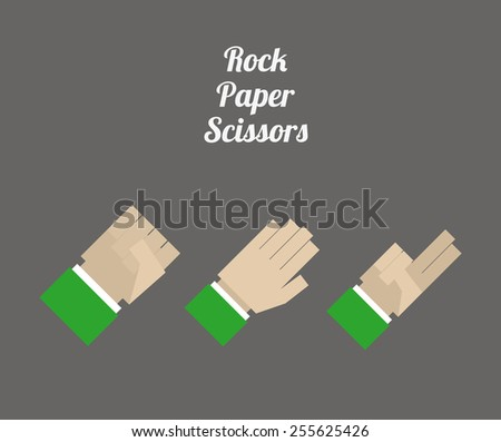 hands desing overgray  background vector illustration. - stock vector