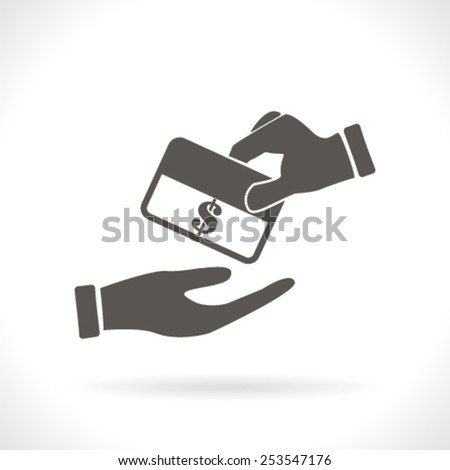 Hands Giving & Credit card holding - stock vector