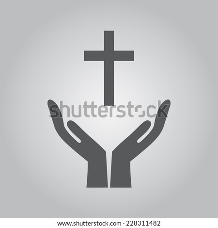 Hands holding icon