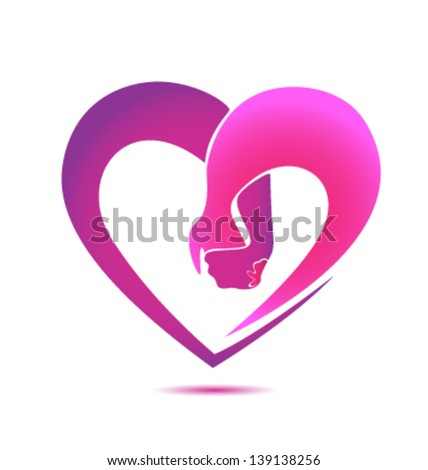 Hands holding in a heart shape - stock vector