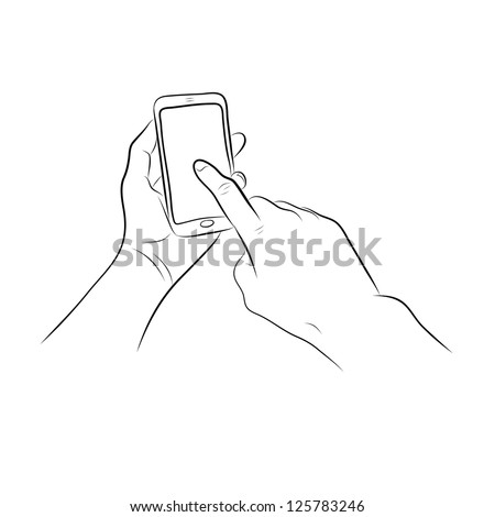 Hands Holding the Smart Phone
