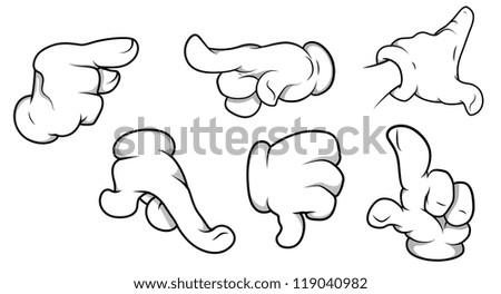 Hands Illustrations - stock vector