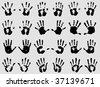 Hands imprint - stock vector