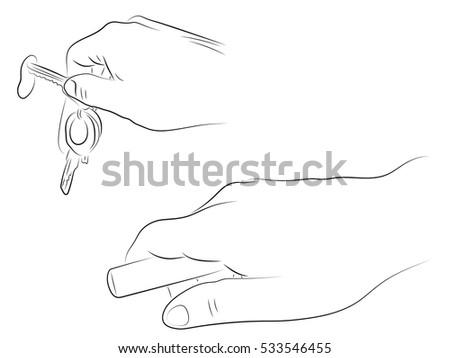 Hands open the door black and white pencil drawing door lock house keys  sc 1 st  Shutterstock & Hands Open Door Black White Pencil Stock Vector 533546455 - Shutterstock