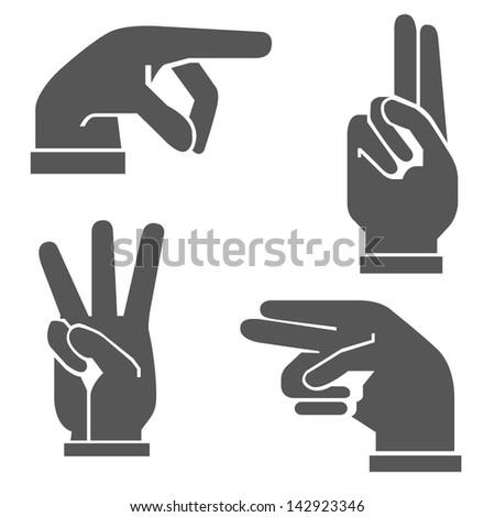 hands set - stock vector