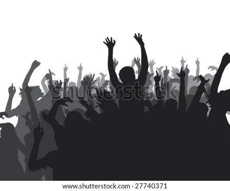 Hands silhouettes - stock vector