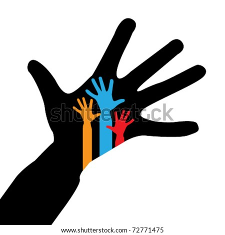 hands symbol - stock vector