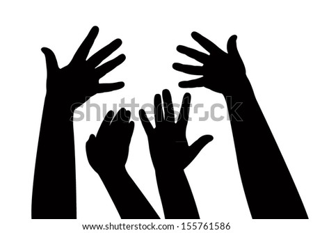 hands together, vector