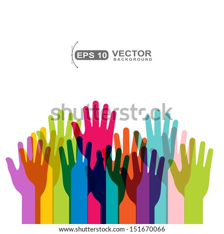 hands vector - stock vector