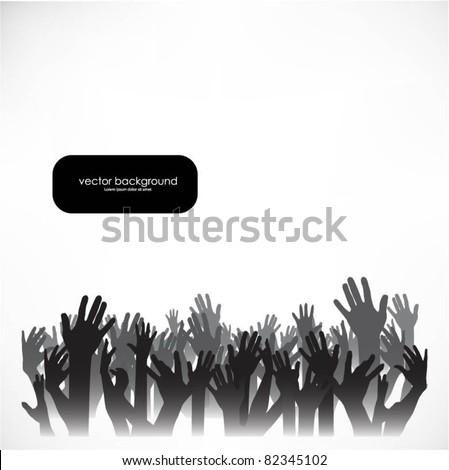 hands vector background - stock vector