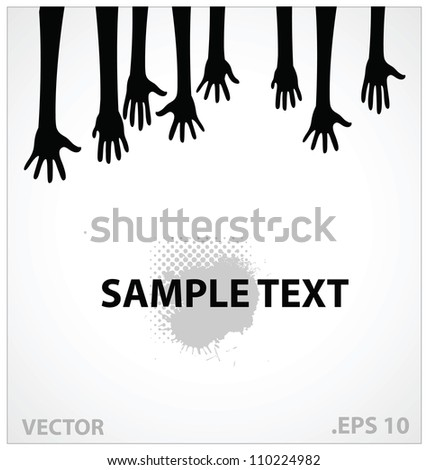 hands vector illustration sign black color isolated - stock vector